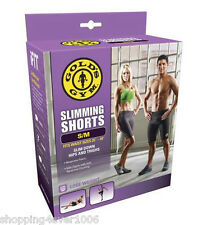 "New Gold's Gym Slimming Shorts Size S/M 25""- 34"" Work Out Sweat Out Slim Down"