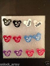 The Mouse Kiss Swarovski Crystal Handmade Stud Earrings Mix Colors 6 Pairs A26