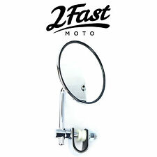 2FastMoto Chrome Clamp On Mirror Motorcycle Custom Chrome BMW
