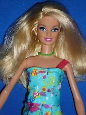 Blonde Barbie Doll & Outfit ~ Pink Streak in Hair ~ Straight legs and Arms