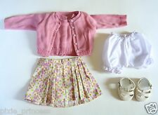 American Girl Kit Meet Outfit Cardigan Sweater Skirt Sandals Bloomers RETIRED