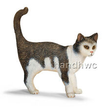 Schleich 13638 Cat Standing Model Toy Animal Model Figurine Retired - NIP