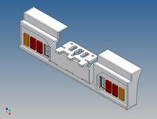 HS3L8-4 - Heckstoßstange für TAMIYA LKW 1:14 3-Achser für 2x8 3mm LEDs