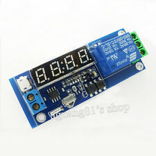 DC 12V Digital Clock Temperature Cycle Timer Timing Delay Self-lock Relay Module