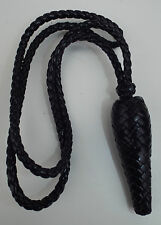 BLACK PLAITED PLASTIC ARMY OFFICERS SWORD KNOT - British Army , NEW