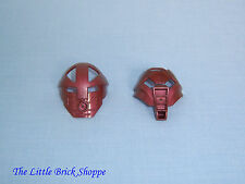 Lego Bionicle Kanohi 32572 KOMAU and 32573 HUNA Pearl Copper Collectable Masks