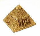 Egyptian Golden Color Great Pyramid Jewelry Trinket Box. Ancient Egypt King Tomb