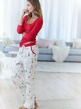 VICTORIA'S SECRET THE DREAMER HENLEY PJ SET SZ XL FLANNEL PARIS NEW YORK  NWT