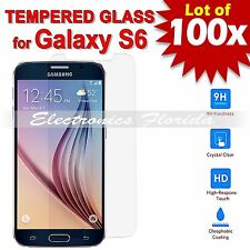 100X Premium Tempered Glass Film Screen Protector 2.5D for Samsung Galaxy S6