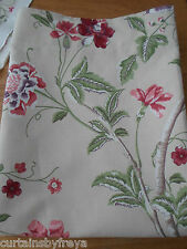 New Door Curtain in Laura Ashley SUMMER PALACE Cranberry red THERMAL Lined