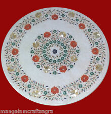 """24"""" Marble Coffee Table Handmade Pietra dura Work Home Decor for Gift"""