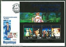 "MOZAMBIQUE 2014 ""MOVIES MARY POPPINS 50TH RELEASE ANNIVERSARY"" SHEET FDC"