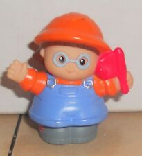 Fisher Price Current Little People Construction Worker Holding Flag FPLP