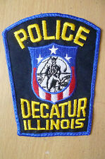 Patches: DECATUR ILLINOIS POLICE PATCH (NEW* apx.12.5x10 cm)