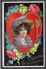 "Vintage Postcard - 'Valentine' (Dated 1910's) ""Valentine Greetings"""