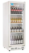 AG Gastro Kühlschrank Flaschenkühlschrank Glastür 230 Liter 530x635x1442mm weiß
