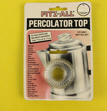 "Universal Glass Coffee Percolator Replacement Top Fitz All 13/16"" to 1 1/2"""