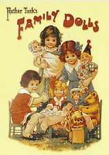 ROBERT  OPIE  ADVERTISING  POSTCARD  -  FATHER  TUCK'S  FAMILY  DOLLS