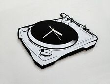 DJ Record Player Silhouette - Wall Clock