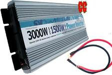 Power Inverter 12v 3000W - 1500W  motorhome TWIN mains plug 230v power USB AC DC