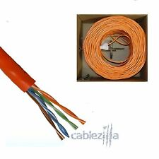 CAT5E 1000FT 24AWG UTP CAT5 SOLID ORANGE NETWORK ETHERNET CABLE WIRE RJ45 LAN