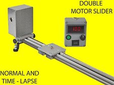 CMTL 150 cm video slider 2 motors, normal+time lapse, motorized timelapse DSLR