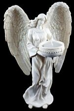 Large Angel Candle Holder Christmas Ornament Statue Figurine Figure 23cm High