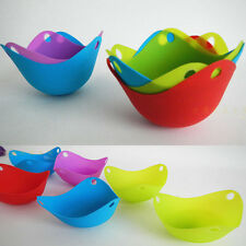1Pcs Silicone Egg Poaching Mould Poacher Cup Poach Pods Kitchen Tool Cookware