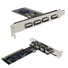 Ultimo USB 2.0 4 Porte 480Mbps Alto velocità VIA HUB PCI Scheda Controller