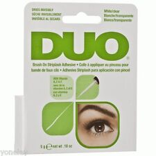 DUO BRUSH ON Striplash Adhesive Eyelash Lashes Glue White Clear Invisible