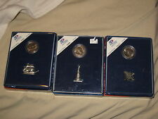 hallmark american spirit collection coin & figurine set 3 deal lot