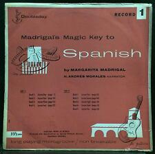 Madrigal's magic key to spanish #1 LP VG+ Rarest Andy Warhol ART Cover 1953 NM