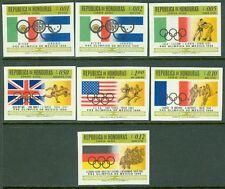 BRITISH HONDURAS : 1968. Scott #C439-45 Olympics. Imperf set. Very Fine, Mint NH