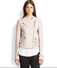 A.L.C. Blush Pink Malta Moto Jacket Cotton 2014 Size S