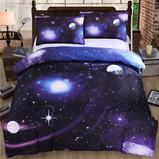 King Size Galaxy Duvet Cover Bedding Set Nebula Star Cosmos Moon LIMITED/