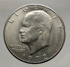 1972  President Eisenhower Apollo 11 Moon Landing Dollar USA Coin Denver  i46160