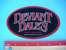 Beer STICKER: OSKAR BLUES Deviant Dale's India Pale ~ Longmont, COLORADO Brewery