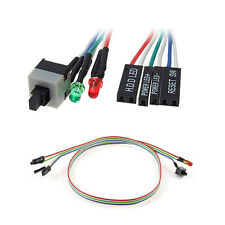 New PC ATX Power Supply Reset Switch Cable Led Lights