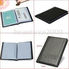 New Men Pu Leather Pocket Business ID Credit Card Holder Case Wallet Gift Black