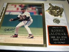 2 BEAUTIFUL ALLSTAR GAME AUTO PLAQUES OF ALOMAR BROS ROBBIE AND SANDY W/MVP INSC