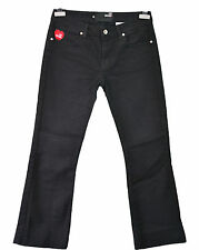 LOVE MOSCHINO Ladies Sexy Casual Black Straight Jeans Trousers Pants sz 28 F87