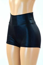 SMALL High Waist Black Metallic Rave Party Fun Shorts Ready To Ship!