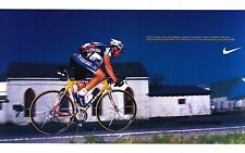 "NIKE POSTER~Lance Armstrong Original Full Size 23x35"" Cycling What Are You On?~"