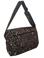 Stars messenger/backpack School bag knapsack black silver large retail $34.99