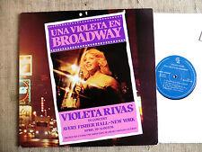 Violeta Rivas in concert - Una violeta en Broadway –- LP gatefold