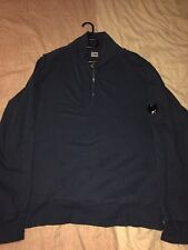 CP Company Arm Watch viewer Half Zip Jumped  3XL Navy