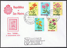 Repubblica di San Marino Flowers First Day Cover 1971 -  SG919 to SG923