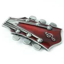 Country Music Guitar Red Head Belt Buckle Western Southwestern Fashion New