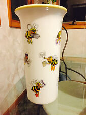 1998 Collectable Teleflora Ceramic Flower Vase Busy Bees Office Worker New
