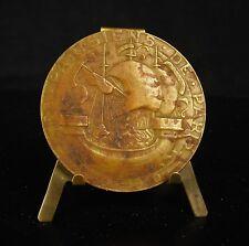 Médaille par Charles Perron Les parisiens de Paris La seine Mère et fils Medal